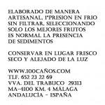 Aceite de Oliva Virgen Extra.Nuevas etiquetas 100 Caños
